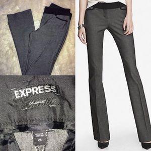Express low rise boot cut columnist pant